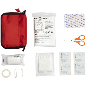 First Aid Kit m. 20 parts, red