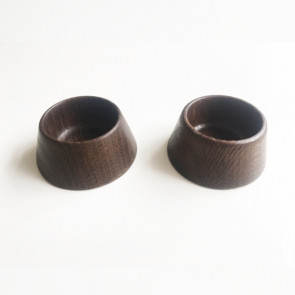 2 Egg / Salt / Pepper-cup - SMOKED OAK